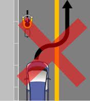 「追い越しのための右側部分はみ出し通行禁止」2