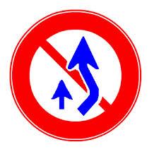 追い越しのための右側部分はみ出し通行禁止