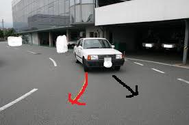 タイヤの向き